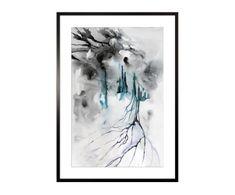 "Dekoracja ścienna ""Watercolor Abstract III"", 53 x 3 x 73 cm"