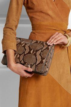 Gucci|Lady Bamboo small python shoulder bag|NET-A-PORTER.COM