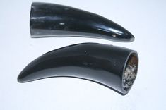 2 Cow horn tips ....  x2a83 ... Natural colored polished cow horns.,..