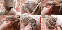 DIY Braid Around Ponytail  I wonder if the girls' will sit down long enough for me to try this!!  :)