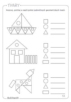 96 úžasných aktivit k rozvoji zrakového vnímání dětí od 4 do 8 let Shapes Worksheet Kindergarten, 2nd Grade Math Worksheets, Kindergarten Worksheets, Preschool Writing, Preschool Learning Activities, Teaching Math, Math For Kids, Math Lessons, Kids Education