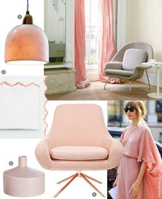 The pale pink, coral and salmon hues trend is reigning with whisper strength this #Spring2015