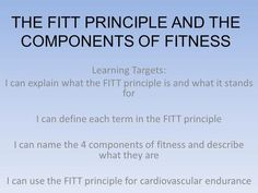 Printables Fitt Principle Worksheet fitt principle powerpoint notes the and components of fitness learning targets i can explain what the