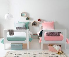 Ideas para un #dormitorio mixto. #dormitorioinfantil #dormitoriomixto #sharedbedroom