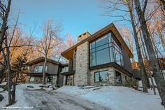 From Nathan Buhler (Canada): Mad River Chalet Modern Mountain Home, Mountain Homes, Grey Siding, Mountain Designs, Dream House Exterior, Construction, Architecture, Future House, House Styles