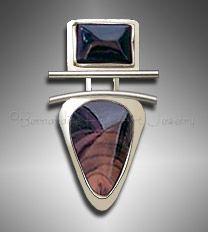 Bruneau jasper pendant by Bernardine Fine Art Jewelry