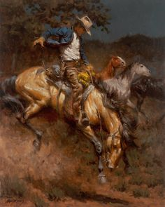 The Lone Cowboy Takes a Horse by Andy Thomas