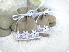 Set of 150 -Natural Rustic Linen Wedding Favor Bag or Candy Buffet Bag or Gift Bag. $225.00, via Etsy.