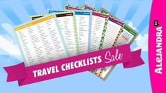 Travel Checklists Bundle - 50% off all Travel Checklists: Shop here: https://ymj88790.infusionsoft.com/app/orderForms/2014-Sale-Travel-Checklists-Bundle