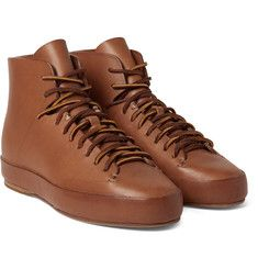 Feit - Leather High-Top Sneakers