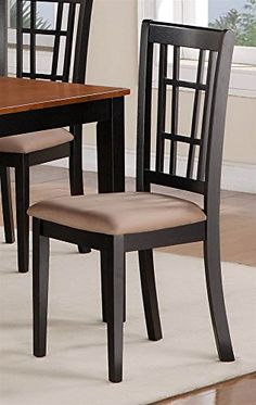 Microfiber Upholstered Dining Chair - Set of 2