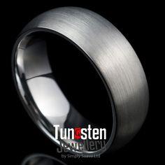 Wedding Ring Men Brushed Finish Classy Band: EXCALIBUR
