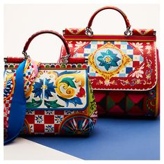 DOLCE & GABBANA SMALL SICILY PRINTED LEATHER BAG