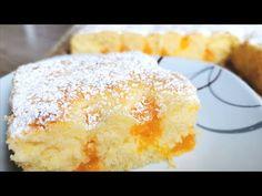 Himmlisch weicher Buttermilchkuchen, nur 5 Min Zubereitung und 25 Min Backzeit! - YouTube German Cake, Cheesecake Cake, My Dessert, Savory Snacks, Easy Cake Recipes, Love Cake, Desert Recipes, Flan, Cheesecakes