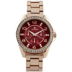 LOUIS ARDEN LA7236 Rose Gold-Tone Watch ($20) ❤ liked on Polyvore