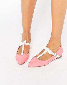 ASOS LOGAN Pointed Ballet Flats Scarpe Bianche fff29823c37