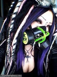 #Vampirefreaks #Goth girl Spiked Skittle showing us her #Cybergoth girl side