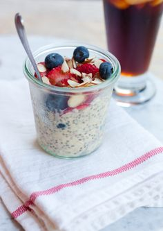 Overnight oats: easy, delicious, and a good source of protein and fiber to keep you going!