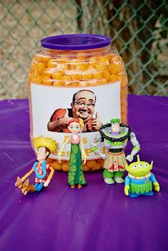 Al's cheese puffs balls - Toy Story movie theme