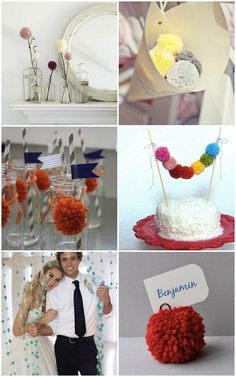 How to use yarn pom poms at your wedding