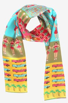 Karen Mabon 'School Days' silk scarf | Godiva Boutique