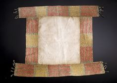 Central Plains Quilled Saddle Blanket, - Cowan's Auctions