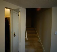 BEFORE image of stairs Vancouver Interior Design - Fruition Design Inc
