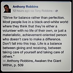 Allow yourself to give and receive in balance Order his program at http://foudak.com/anthony-robbins/