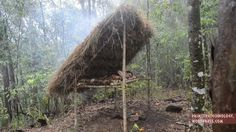 How to Construct a Raised 'Bed Shed' Shelter Using Only Primitive Technology