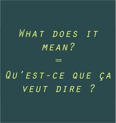 Pronunication: http://soundcloud.com/edi/what-do-you-mean-quest-ce-que