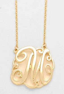 Monogram initial necklace 15 letter l pendant silver chain monogram initial necklace 15 letter m pendant gold chain aloadofball Gallery