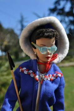 Vintage Barbie 1963 Ski Queen Set w Poles Skis Glasses Gloves Boots | eBay