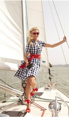 Overboard Blue and White Gingham Shirt Dress