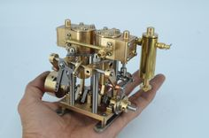 Twin Cylinder Reversable Marine Steam Engine with lubricator Mini Steam Engine, Live Steam Locomotive, Turbine Engine, Gas Turbine, Stirling Engine, Yacht Builders, Paddle Boat, Small Engine, Model Trains