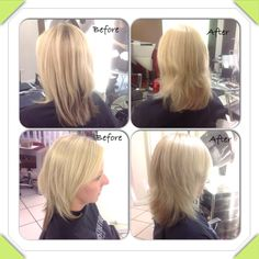 Lightening process after 1 service to even out hair colour, hair by stylist jasmine