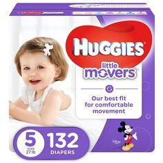 Huggies Little Movers Active Baby Diapers Size 5 Fits 27 Lb. 132 Ct Economy for sale online Huggies Little Movers, Cute Winnie The Pooh, Huggies Diapers, Diaper Sizes, Diaper Rash, Disposable Diapers, Second Baby, Baby Needs, Baby Size