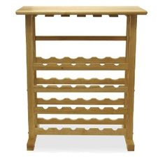 Winsome 24-Bottle Wine Rack - Beechwood