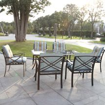 Redford Patio Dining Set, Seats 6 * Very nice of your presence to have dropped by to see the image. (This is an affiliate link) Discount Patio Furniture, Patio Furniture Sets, Outdoor Rooms, Outdoor Living, Outdoor Decor, Tempered Glass Table Top, 7 Piece Dining Set, Wood Bridge, Steel Frame
