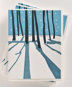 Letterpress Christmas Silent Night  Holiday by vandaliastreetpress, $28.00