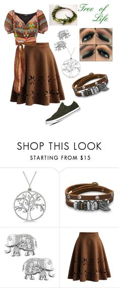 """Tree of Life"" by jenjen802 ❤ liked on Polyvore featuring Converse, Allurez, BillyTheTree, Journee Collection, Chicwish, Mochi, disneybound, animalkingdom and treeoflife"