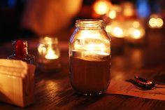 Mindful Bride:  Recycled Glass Jars #wedding
