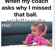 Softball and volleyball😂😂🏐🏐⚾️⚾️ Funny Softball Quotes, Volleyball Jokes, Softball Problems, Basketball Memes, Soccer Quotes, Sports Memes, Volleyball Players, Sport Quotes, Funny Sports