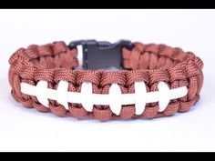 Make a Football Themed Paracord Survival Bracelet - BoredParacord - YouTube