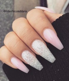•tapered square• •accent nails•