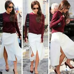 Victoria Beckham Style, Style Icons, White Jeans, Dress Up, Style Inspiration, My Style, Fashion, Moda, Costume