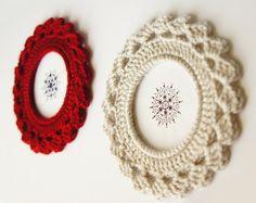 Crochet Picture Frame with Fan Edge Crochet PDF Pattern by JaKiGu