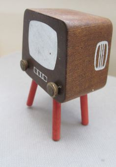 Your place to buy and sell all things handmade Wooden Dollhouse, Wooden Dolls, Mini Tv, Television Set, 1970s, Youth, Childhood, Vintage, Etsy