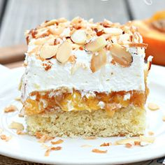 Better Than Anything Peach Poke Cake has delicious summer peaches and a homemade cake layer. It's the perfect poke cake recipe for the warm summer months as well as when you're just craving peach desserts!