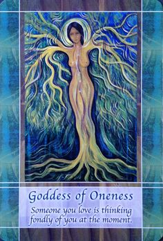 22 July 2015: #DailyCardReading #PsychicReading #oracle #SpiritualGuidance  GODDESS OF ONENESS ~ Today's energies flow on from yesterday's card - can you sense the connection to oneness that resides within you? Can you sense the ancestors connecting with you? There is so much wisdom that is available to you - stop seeing yourself as separate from everything and everyone, and embrace ...See the whole reading at https://www.facebook.com/AmethystRoseNewAgeProductsandServices <3 Vanda xx