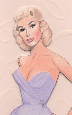 My paper doll of sultry & glamorous Dolores Gray, who co-starred in four MGM films of the 1950s...
